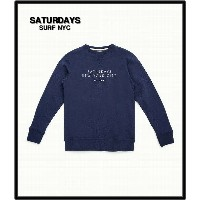 S 紺 NAVY【SATURDAYS SURF NYC [サタデーズサーフ NYC] BOWERY ESTABLISHED スウェット】1462 115BOWEST