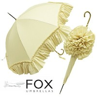 フォックスアンブレラ 傘 レディース FOX UMBRELLAS WL9 LADIES DEEP FRILL WALKING LENGTH UMBRELLAS 長傘 IVORY