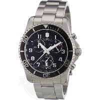 【Victorinox Swiss Army ビクトリノックス 241432 Maverick GS マーベリック GS クロノ Black Chronograph Dial Watch】