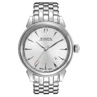 Bulova Accutron ブローバ アキュトロン メンズ腕時計 #63B156 Men's Gemini Swiss Made Stainless Steel Silver Dial Automatic Watch