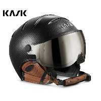 16-17KASKカスクゴーグル付ヘルメット「ヘルメットバイザーELITE Pro」Carbon×Brown(SHE00020.272)【全国送料無料】