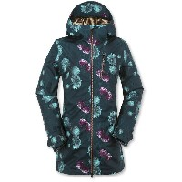 ボルコム Volcom レディース スノーボード ウェア【Astrid Gore-Tex 2L Jacket】Peony Print Emerald Green【10P03Dec16】
