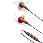 Bose SoundSport in-ear headphones - Apple devices : イヤホン 防滴仕様/Apple製品対応リモコン・マイク付き パワーレッド SoundSport...