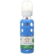 Lifefactory Glass Baby Bottle with Silicone Sleeve ガラス 哺乳瓶 260ml ブルー