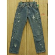 LEVIS リーバイス501 ペイント加工 古着 90S MADE IN USA ダメージジーンズ 中古W29×L29 中古