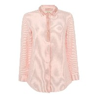 マックスマーラ レディース トップス シャツ【Max Mara Mirto long sleeve tonal stripe embellished shirt】Coral【10P03Dec16】