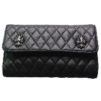 CHROME HEARTS WAVE WALLET #4 QUILTED 3 SNAP CH PLUS クロムハーツ ウォレット WAVE WALLET #4 キルト 3 SNAP CHプラス モチーフ【あ...