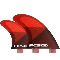 FCS FIN PC-3 RED SLICE QUAD FINSET FCS クアッドフィン