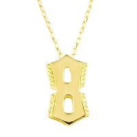nadi K18YG 数字 8 ナンバー エイト ペンダント ゴールド チェーン ネックレス 40cm 18K Yellow Gold No. Eight Pendant Chain Necklace