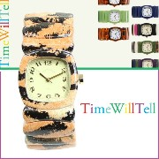 Time Will Tell タイムウィルテル 腕時計 レディース 28mm WRAPPED COLLECTION タイガー