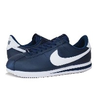 NIKE CORTEZ BASIC LEATHER ナイキ コルテッツ ベーシック レザー OBSIDIAN/WHITE/METALLIC SILVER