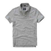 【Abercrombie & Fitch】 アバクロ / メンズ / 半袖 / ポロシャツ / グレー 【S】 【New Icon Polo】 並行輸入品