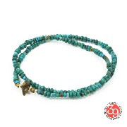 Sunku/39/サンクSK-024 Turquoise Beads Anklet & Necklace アンティークビーズNecklace/ネックレス/Anklet/アンクレットSilver925/シ...