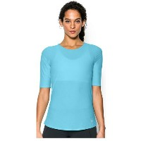 アンダーアーマー レディース ランニング ウェア Tシャツ【Under Armour HeatGear Coolswitch Short Sleeve T-Shirt】Sky Blue/Reflective...