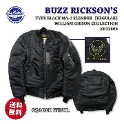 【特典付】BUZZ RICKSON'S(バズリクソンズ)フライトジャケットType BLACK MA-1 SLENDER (REGULAR) WILLIAM GIBSON COLLECTIONBR12666【...
