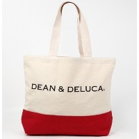 DEAN&DELUCA ディーン&デルーカ トートバッグ レッド NY限定品 IN0393 [並行輸入品]