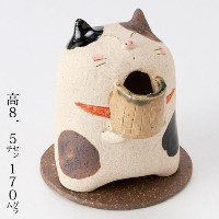 お茶猫香炉 (K3079) Incense burner