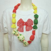 FRANKY GROW ( フランキーグロウ) CANDY RIBBON NECKLESS ネックレス オケージョン キッズ 子供服