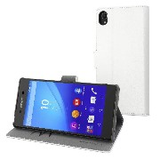 muvit Xperia Z4用ケース Wallet Folio case for Sony Xperia Z4 White ホワイト SEWAL0014
