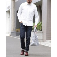HAND ROOM(ハンドルーム) 起毛レギュラーシャツ【Short Regular Shirt/Raised Off White】