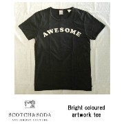 SCOTCH&SODA(スコッチ&ソーダ)半袖ロゴプリントTシャツBright coloured artwork tee95 antra