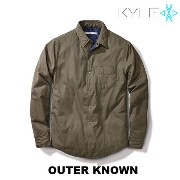 【OUTER KNOWN】アウター シャツジャケット オリーブ☆ Outer known(アウターノウン) バイマ BUYMA