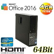 中古パソコン DELL 790SF Core i3 2100 3.1GHzメモリ4GBDVD250GBKingSoftOffice最新版HDMI内蔵GeForce64BitWindows7Pro /R-dg-147/中古【02P03Dec16...
