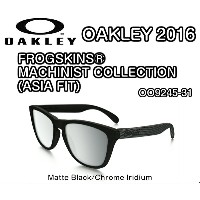OAKLEY オークリー FROGSKINS MACHINIST COLLECTION (ASIA FIT) OO9245-31 Matte Black Chrome Iridium フロッグスキン マシニストコレク...