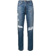 Ag Jeans ダメージストレートジーンズ
