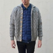 INVERALLAN(インバーアラン)/ 3A Lumber Cardigan(日本正規品)Naturally-Neutral -BRACKEN(N603)-(SIZE40,42)