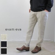 【10%OFFクーポン対象】11/27 18:00〜12/1 23:59 evam eva(エヴァムエヴァ) raising linen easy pants 3colormade in japanv163t986-n