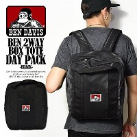 (ベンデイビス)BEN DAVIS公式 BEN 2WAY BOX TOTE DAY PACK -BLACK- FREE