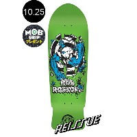 【SANTA CRUZ サンタクルーズ】10.25in x 30.03in ROSKOPP ROB TARGET 3 GREEN FLUORESCENT REISSUE DECKデッキ ロブ・ロスコップ オー...