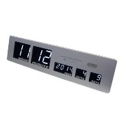 HOUSE USE PRODUCTS LEDクロック シルバー LED CLOCK Sharon(SV)