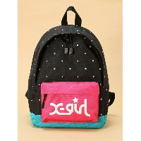 X-girl Stages EMBROIDERED STAR BACK PACK M エックスガールステージス【送料無料】