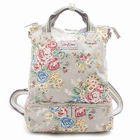 Cath Kidston 546089 Candy Flowers/キャンディフラワー ダブルデッカー Double Decker Backpack 2way リュックサック ハンドバッ...