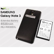 Mugen Power @ SAMSUNG GALAXY NOTE 3 N9005 N9005XL SUPER EXTENDED 6500MAH BATTERY W/ DOOR COVER, 2X MORE POWER NFC (黑)