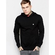 ASOS エイソス Muscle Hoodie With Embroidery In Black