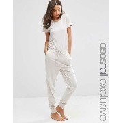 ASOS エイソス TALL LOUNGE Jumpsuit In Marl Short Sleeve