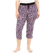 DKNY Plus Size Black Abstract Capris