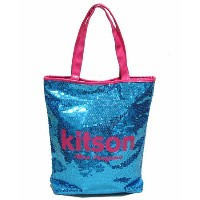 KITSON/キットソン スパンコールトートバッグ BLUE/PINK 【Luxury Brand Selection】【ラッピング無料】【楽ギフ_包装】...