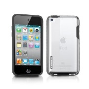 TUNEWEAR 第4世代iPod Touch対応ハードケース TUNESHELL RubberFrame for iPod touch 4G ブラック TUN-IP-000139
